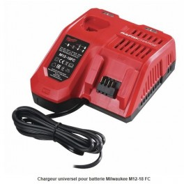 Chargeur rapide M12 18FC Milwaukee 4932451079