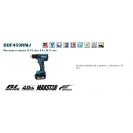 Perceuse visseuse 18 V Li-Ion 4 Ah Makita DDF459RMJ