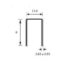 Agrafes 80/6mm Stanox Bte 10000 Omer