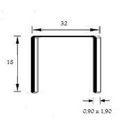 Agrafes 32/18mm copper C20000