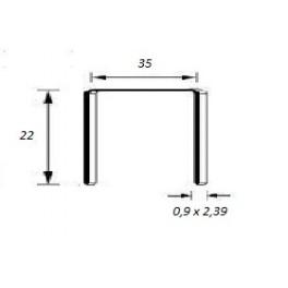 Agrafes 35/22mm Copper Bte 7500
