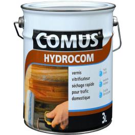 Vernis vitrificateur Hydrocom satiné incolore 3L Comus 17102