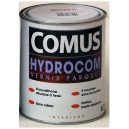 Vernis vitrificateur Hydrocom mat-soie incolore 0.75L Comus 13052