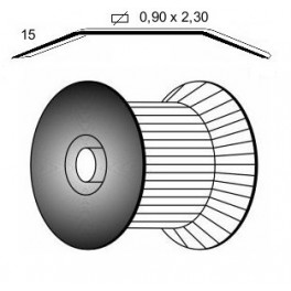 Agrafes Roll D 18mm Copper Bte 24000 Omer