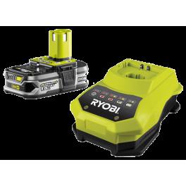 Batterie + chargeur rapide RBC18L15 Lithium 18V 1.5 Ah avec chargeur rapide Ryobi 5133001910