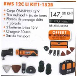 Outil multifonction OMNI-BWS 12C LI KI1 - 152B AEG 4935440765