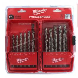 Coffret Thunderweb HSS-G 25 forêts métal Milwaukee 4932352376
